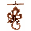 Toggle - Leaf 22mm Antique Copper